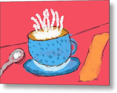Coffee In A Cup Metal Print