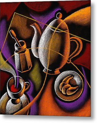 Coffee Metal Print by Leon Zernitsky