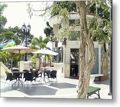 Coffee Lover's Expresso Bar At The Moll Boscana Town Square Metal Print