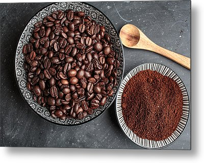 Coffee Metal Print by Nailia Schwarz