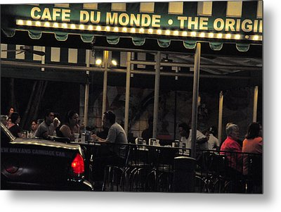Coffee Nola Style Metal Print by Helen Haw