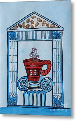 Coffee Palace Blue Metal Print by Norma Appleton