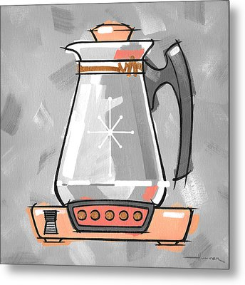 Coffee Pot Coral Metal Print by Larry Hunter