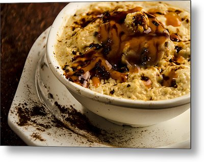 Coffee Souffles With Caramels Metal Print