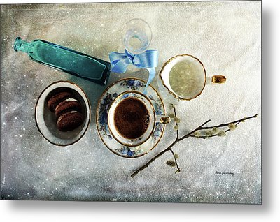 Coffee View Metal Print by Randi Grace Nilsberg