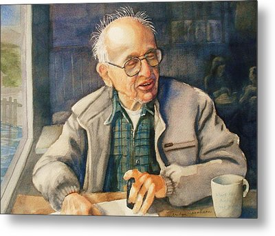 Coffee With Andy Metal Print by Marilyn Jacobson