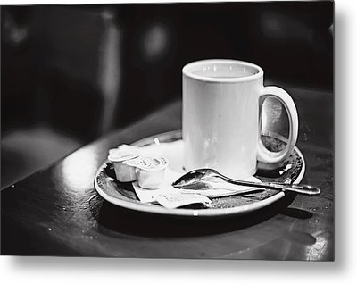 Metal Print featuring the photograph Coffee With Cream by April Reppucci