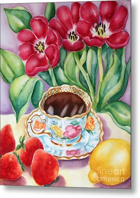 Coffee With Flavour Metal Print by Inese Poga