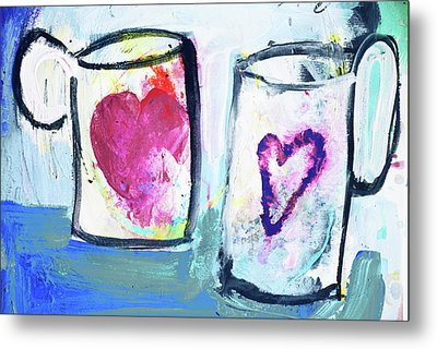Coffee With Love Metal Print by Amara Dacer