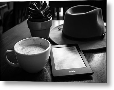 Metal Print featuring the photograph Coffeehouse Lifestyle by Monte Stevens