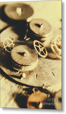 Cog And Gear Workings Metal Print