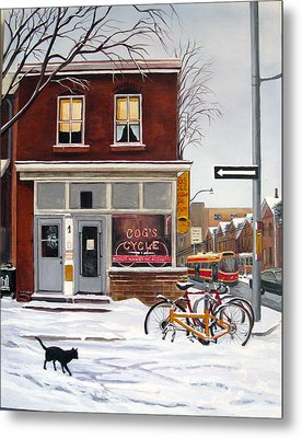 Metal Print featuring the painting Cog's Cycle by Margit Sampogna