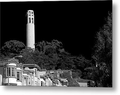 Coit Tower Metal Print by Anthony Citro