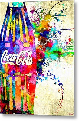 Cola Grunge Metal Print by Daniel Janda