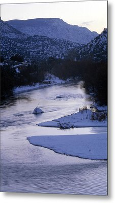 Cold And Blue Metal Print by Lynard Stroud