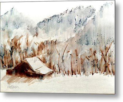 Metal Print featuring the mixed media Cold Cove by Seth Weaver