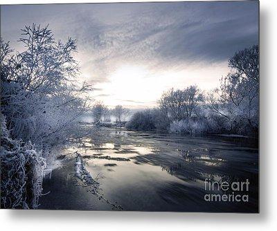 Cold River Flow Metal Print by Angel  Tarantella