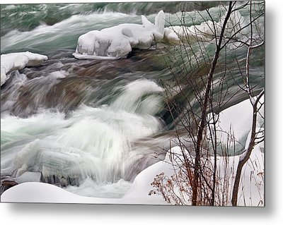 Metal Print featuring the photograph Cold Rush by Timothy McIntyre