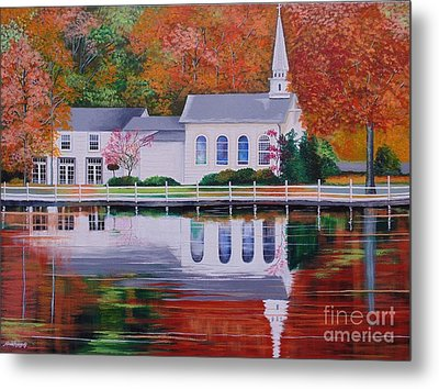 Cold Spring Harbor St Johns Church Metal Print
