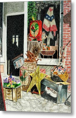 Cold Spring Window Right Metal Print