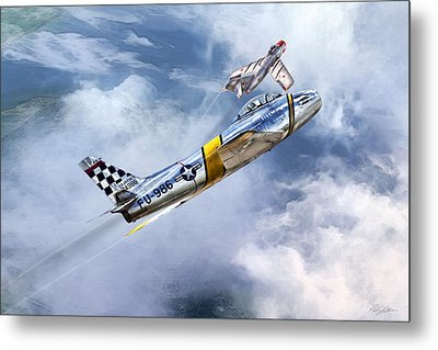 Cold War Clash Metal Print by Peter Chilelli