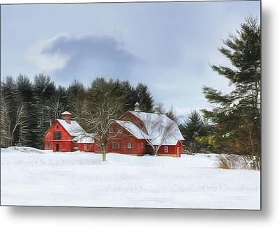 Metal Print featuring the digital art Cold Winter Days In Vermont by Sharon Batdorf