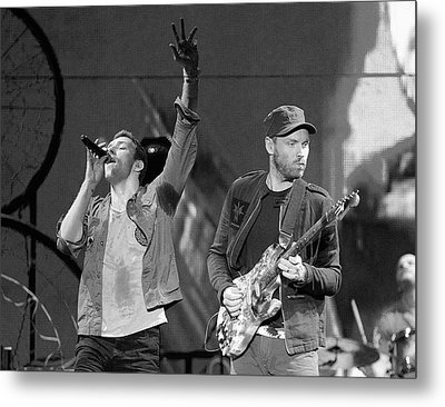 Coldplay 14 Metal Print by Rafa Rivas