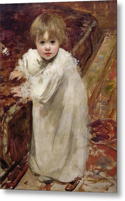 Colette's First Steps Metal Print by Henri Gervex