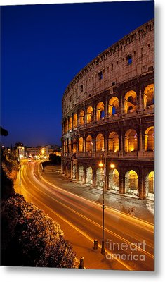 Coliseum At Twilight Metal Print by Brian Jannsen