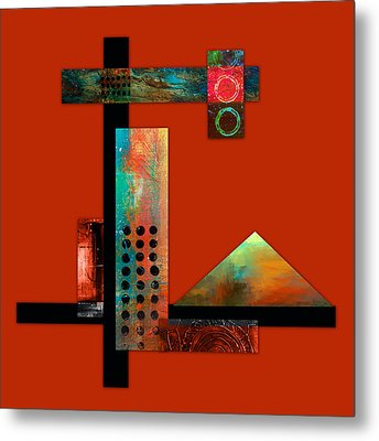 Collage Abstract 1 Metal Print by Patricia Lintner