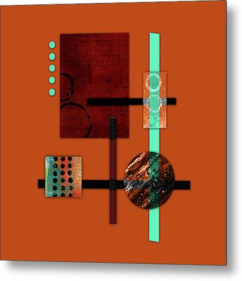 Collage Abstract 10 Metal Print by Patricia Lintner
