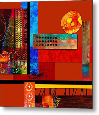 Collage Abstract 2 Metal Print by Patricia Lintner