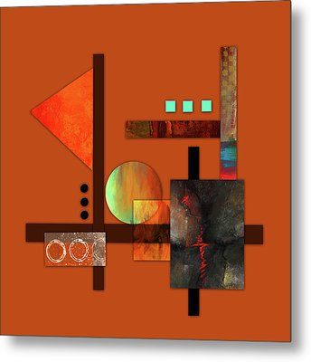 Collage Abstract 9 Metal Print by Patricia Lintner