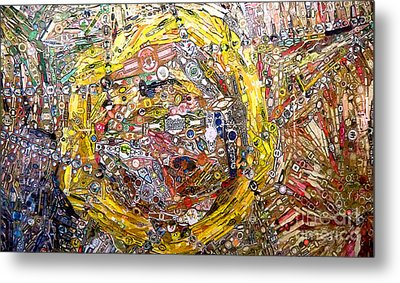 Collage Abstract Metal Print by Mindy Newman