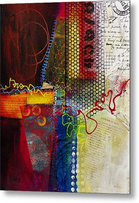 Metal Print featuring the painting Collage Art 2 by Patricia Lintner