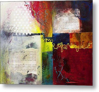 Metal Print featuring the painting Collage Art 3 by Patricia Lintner