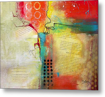 Metal Print featuring the painting Collage Art 5 by Patricia Lintner