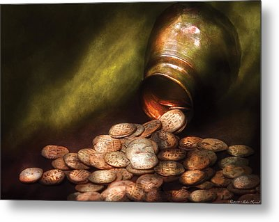 Collector - Coin - Treasure Quest  Metal Print by Mike Savad