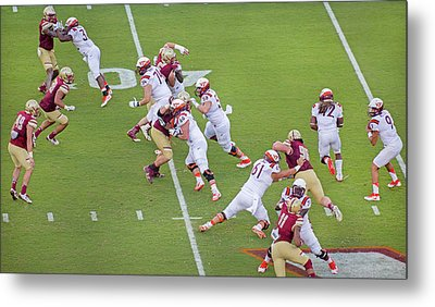 College Football Vt And Boston College Metal Print