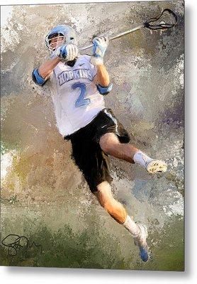 College Lacrosse Shot 2 Metal Print
