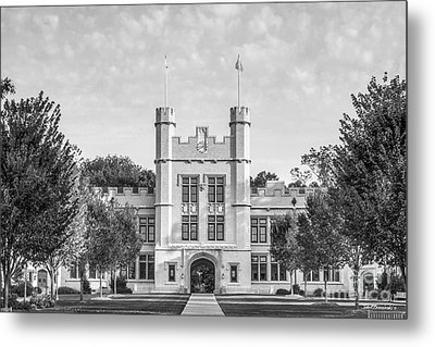 College Of Wooster Kauke Hall Metal Print by University Icons