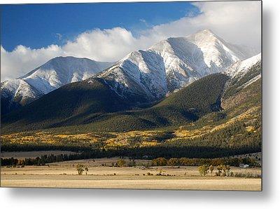 Collegiate Peaks From Buena Vista Colorado Metal Print by Rhonda Van Pelt