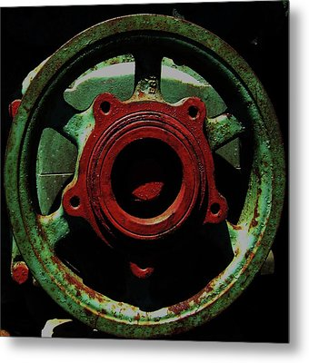 Metal Print featuring the photograph Collide by Cyryn Fyrcyd