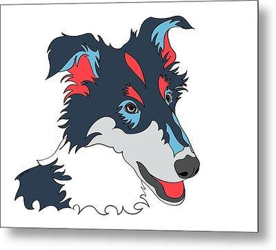 Collie Graphic Art - Dog Art - Wpap Metal Print by SharaLee Art