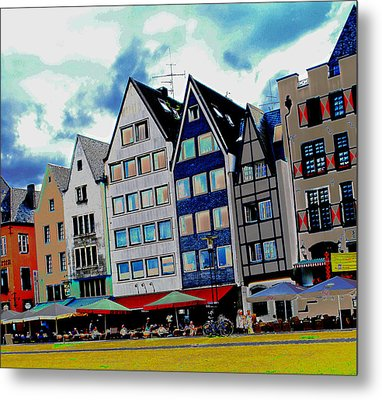 Cologne On The Rhine Metal Print