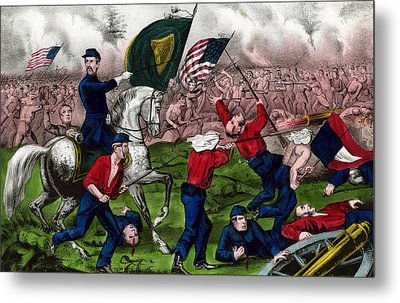Colonel Michael Corcoran At The Battle Of Bull Run Metal Print by American School