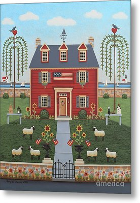 Colonial By The Sea Metal Print
