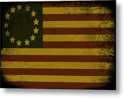 Colonial Flag Metal Print by Bill Cannon