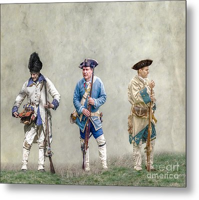 Colonial French Soldier Review Metal Print by Randy Steele
