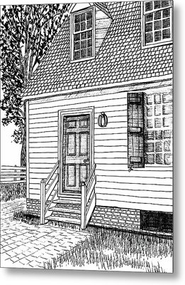 Colonial Home, Restored Area, Williamsburg, Virginia Revolutionary City Metal Print by Dawn Boyer